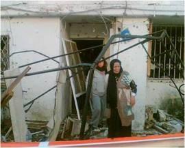 נזקים מפגיעות הטילים בדירות עמיגור